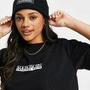 ナパピリ NAPAPIJRI Napapijri Napapijriパッチビーニー(黒) 帽子 レディース 女性 インポートブランド