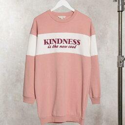 ミスセルフリッジ Miss Selfridge ミスセルフリッジ '優しさはピンクの新しいクールな'スウェットシャツです トップス レディース 女性 インポートブランド 小さいサイズから大きいサイズまで