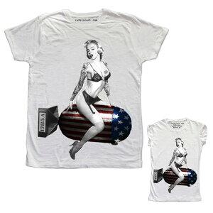 RUDE(ルード)ルード tシャツ イタリア 爆弾 Tシャツ ホワイト 20代 30代 40代 ファッション コーディネート 大きいサイズ 日本未入荷 半袖 メンズ カジュアル ユニセックス メンズ 大人 男性 女性 レディース プリントt divacloset edm フェス プリント Tシャツ フォトt