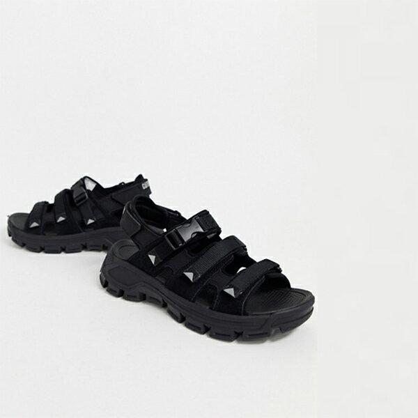 ブラック スエード CAT プログレッサー サンダル 靴 20代 30代 40代 ファッション コーディネート 小さいサイズから大きいサイズまで オシャレ トレンド インポート トレンド画像