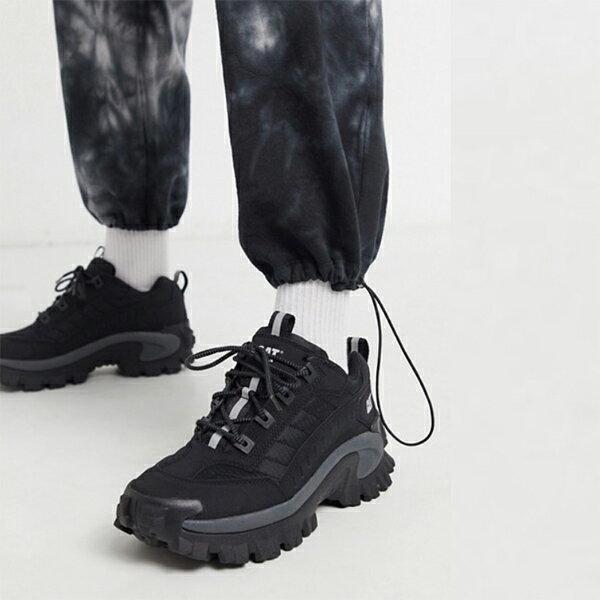 CAT イントルーダー チャンキー ソール トレーナー ブラック メンズ 20代 30代 40代 ファッション コーディネート 小さいサイズから大きいサイズまで オシャレ トレンド インポート トレンド画像