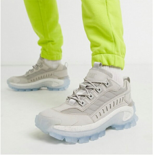 グレー CAT チャンキー 透明 ソール トレーナー 靴 20代 30代 40代 ファッション コーディネート 小さいサイズから大きいサイズまで オシャレ トレンド インポート トレンド画像