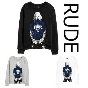 RUDE(ルード)スター スポーツ トレーナー スウェット 長袖 黒 ブラック 20代 30代 40代 ファッション コーディネート 大きいサイズ 日本未入荷 インポート メンズ カジュアル ユニセックス メンズ 大人 プレゼント レディース edm フェス プリント Tシャツ フォトt