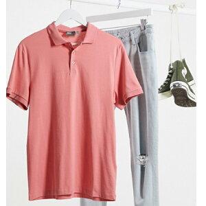 ASOS DESIGN オーガニック ジャージー ポロ ピンク メンズ インポートブランド トップス 小さいサイズから大きいサイズあり 30代 40代 20代 高身長 春夏秋冬