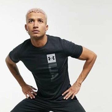 アンダーアーマー Under Armour ロゴ Tシャツ トレーニング ジム フィットネス トップス コーディネート 20代 30代 40代 ファッション コーディネート