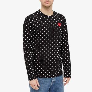 コム・デ・ギャルソン・プレイ PLAY COMME des GARCONS コムデギャルソンプレイ長袖水玉Tシャツ トップス メンズ 男性 インポートブランド 小さいサイズから大きいサイズまで