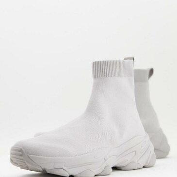 エイソス ASOS asos ASOSDESIGNニットソックストレーナーグレー 靴 メンズ 男性 インポートブランド 小さいサイズから大きいサイズまで