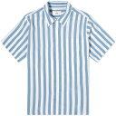 アミ・アレクサンドル・マテュッシ AMI ALEXANDRE MATTIUSSI AMI半袖ストライプシャツ トップス メンズ 男性 インポートブランド 小さいサイズから大きいサイズまで