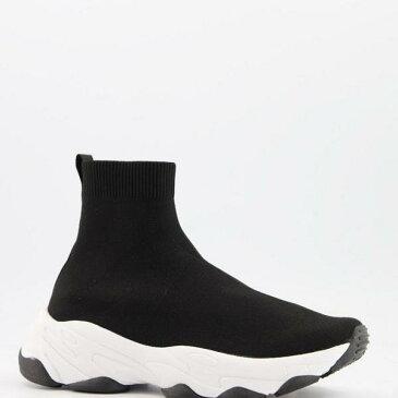 エイソス ASOS asos ASOSDESIGNニットソックストレーナーブラック 靴 メンズ 男性 インポートブランド 小さいサイズから大きいサイズまで