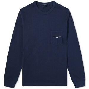 コムデギャルソン・オム・プリュス Comme des Garçons Homme Plus コムデギャルソンオム長袖ロゴTシャツ トップス メンズ 男性 インポートブランド 小さいサイズから大きいサイズまで