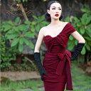 パーティードレス 大きいサイズ 30代 結婚式 20代 結婚式 ワンピース ドレス 大きいサイズ お呼ばれ 二次会 ワンショルダー リボン ミ…