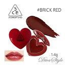 3CE スリーコンセプトアイズ ハートポットリップ #BRICK RED 1.4g【即納】【人気コスメ】【韓流】【韓国コスメ】【スタイルナンダ】【日本国内発送】【リップケア】 【インスタグラム話題商品】