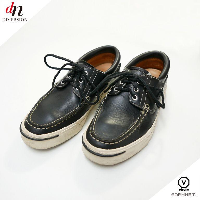 メンズ靴, デッキシューズ 12SS SOPHNET. SOPH visvim AMERICANA DECK VD BLACK US9 DNS-0051