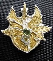 大天使ミカエルのシールドペンダントヘッドモルダバイト&カイヤナイト