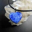 AAA+天然ラピスラズリ(Lapis Lazuli)愛のハートペンダント、ハンドカーヴ...