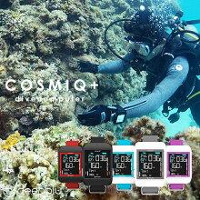 ダイビングコンピューターdeepbluディープブルーCOSMIQ+(コヅミック)カラー液晶モニターUSB充電バッテリー交換不要ダイビングフリーダイビング