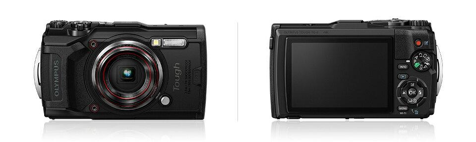 OLYMPUS デジタルカメラ Tough TG-6 1200万画素CMOS F2.0 15m 防水 100kgf耐荷重 GPS 内蔵Wi-Fi ブラック・レッド