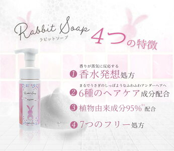 RabbitSoapラビットソープフレグランスデリケートソープ泡タイプボタニカルシャボンの香り120mlデリケートケア黒ずみアンダーヘア保湿かゆみ乾燥低刺激ニオイ