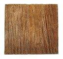 コンクリート枕木・アルウッド平板(木目)(6kg)L300×W300×T30mm【ダークブラウン】
