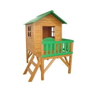 【10月下旬入荷予定】天然木製キッズハウスセザールDXはしご付(間口1160×奥行1970×高さ1775mm)(約51kg)