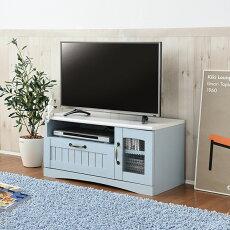 テレビ台テレビボードフレンチカントリー家具テレビ台幅80ブルー(FFC-0001-BL)Azur