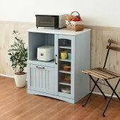 キッチンカウンターキッチン収納幅75ブルーフレンチカントリー家具(FFC-0005-BL)Azur