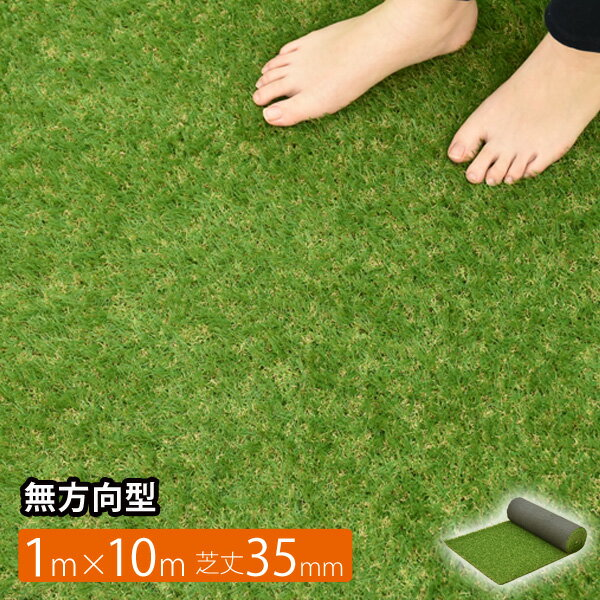 ロールタイプ リアル 人工芝 サイズ1m×10m 芝丈35mm パークシア プレミアムZ 無方向型