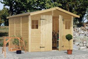 ログハウス 木製バイクガレージ 木製物置  屋外収納庫 ミニログハウス・ガーデンハウスのキ...