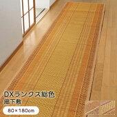 廊下敷い草『DXランクス』80×180cm廊下敷きカーペットラグマット日本製国産
