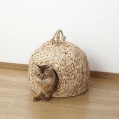 ちぐら猫ちぐら『ペットちぐら中』直径35cm(28637)クロシオキャットハウス【北海道・沖縄・離島送料別途見積】