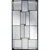 ステンドグラス【メーカー在庫限り】(SH-A32)913×480×18mmデザインピュアグラス幾何学※代引不可