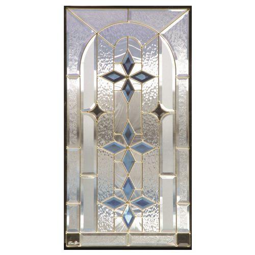 ステンドグラス (SH-A09) ハーフミラー 913×480×18mm デザイン 窓 アーチ ピュアグラス Aサイズ ...