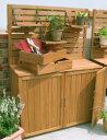物置 木製 ベランダ 高品質な木製収納庫だから屋外でも安心!送料無料!物置 木製 ベラン...