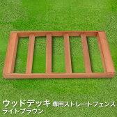[オプション] シダー製ウッドデッキ用フェンス/ストレートタイプ (ライトブラウン) 1枚 (2.0kg)