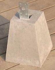 ビス DIY 木工 ウッドデッキ施工の必需品!束石75角用(高さ190mm) 重量約8kg【送料別】