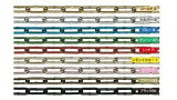 アルミチェーン(アルミカラーチェーン) 3ミリ(AL-3) 切り売り 1m単位【鎖】【クサリ】