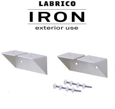 LABRICO IRON(ラブリコ アイアン) 2×4/1×4 シェルフサポート ホワイト(IXO-2)