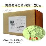 DIY リフォーム 壁 天然素材 珪藻土 日本製 漆喰より安心 自社製造 ベーシック1箱タイプ OW4-ペールグリーン 送料無料