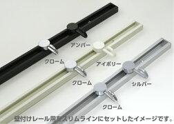 山伸ピクチャーレールR・スリムライン兼用後付スライドフック壁付レール用