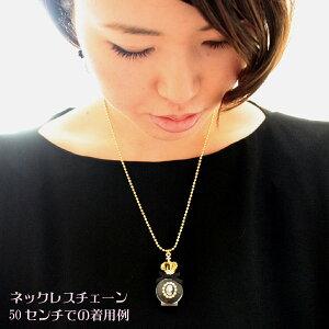 王冠丸クリア香水瓶カメオネックレス【日本製】【楽ギフ_包装選択】