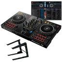 Pioneer DJ DDJ-400 + PCスタンドセット【rekordbox djライセンス付属】【DJ初心者をサポートする教則動画プレゼント】【djay接続ガイ…