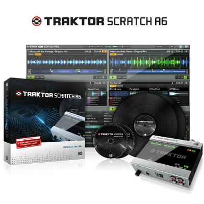 DJソフトウェア【セール特価!】Native Instruments TRAKTOR SCRATCH A6 【代引き手数料/送料無...