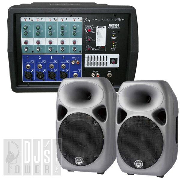 Wharfedale Pro PMX500 + TITAN8PASSIVE 【グレー】 PAセット:DJ機材専門店PowerDJ's