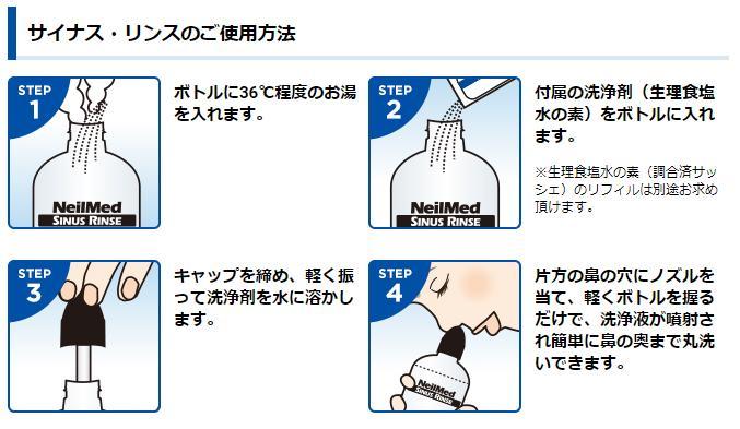 【洗浄ボトル付き】 サイナスリンス リフィル 120包 鼻うがい 鼻洗浄 花粉症 花粉対策 風邪予防 ウイルス対策 鼻炎 インフルエンザ はしか PM2.5 サイナス・リンス