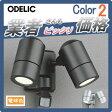 エクステリア 屋外 照明 ライトオーデリック(ODELIC) 【スポットライト OG254637LD OG254638LD】 壁面取付 電球色 人感センサON-OFF型 フラッシュ機能付