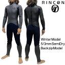 リンコン ウェットスーツ 5/3mm セミドライ フルスーツ ネオクラシック バックジップ モデル / Rincon...