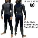 リンコン ウェットスーツ 5/3mm セミドライ フルスーツ チェストジップ モデル / Rincon WetSuit 5/3m...