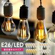 【5個セット】【調光器対応】エジソン バルブ EDISON BULB (LED/4W/100V/口金E26) LED 照明 エジソン電球 調光タイプ おしゃれ 裸電球 レトロ照明