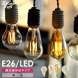 【調光器対応】エジソン バルブ EDISON BULB (LED/4W/100V/口金E26) LED 照明 エジソン電球 調光タイプ フィラメントLED