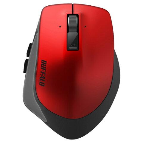 【お取り寄せ】BUFFALO(バッファロー)Bluetooth BlueLED プレミアムフィットマウス Sサイズ レッド |BSMBB500SRD